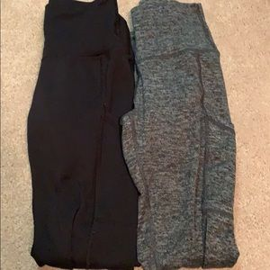 two pairs of leggings